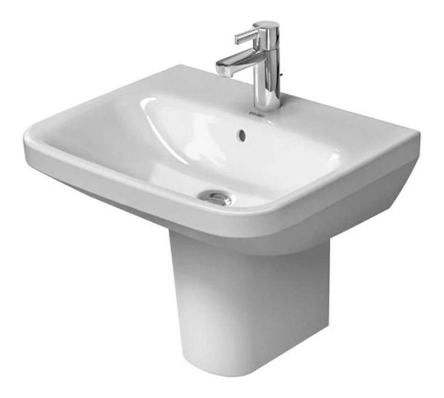 Duravit Sink Wall Mount : ... Bathroom Sink for Wall Mounted or Pedestal Installations with Overflow