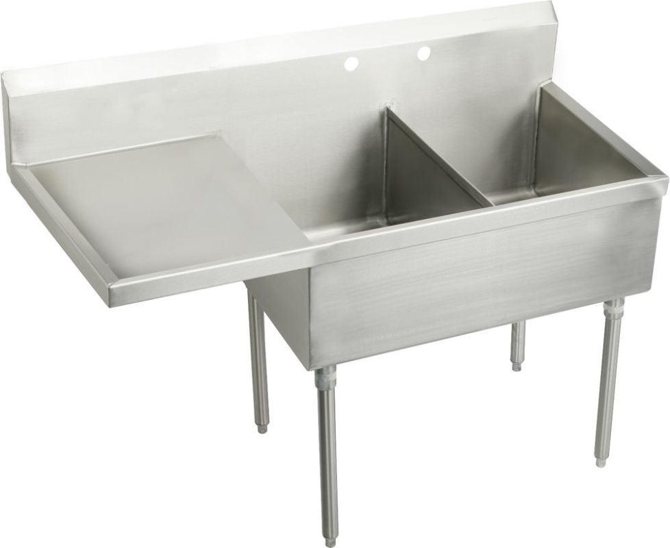Free Standing Stainless Steel Sink : ... Basin Free Standing Stainless Steel Utility Sink - FaucetDirect.com