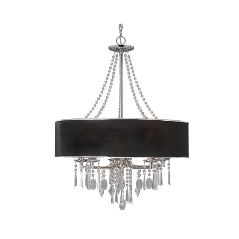 26 wide chandelier with hanging crystal accents
