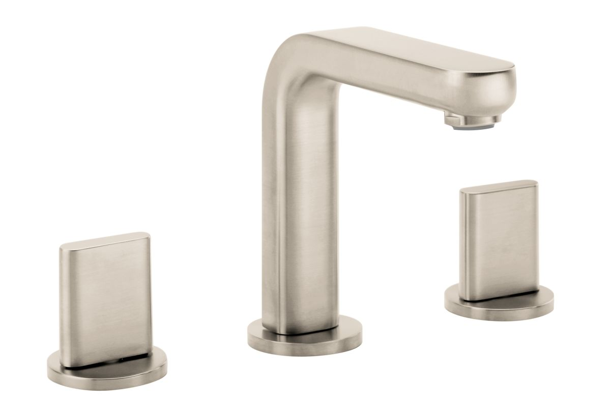 Hansgrohe 31063821 brushed nickel metris s widespread bathroom faucet with ecoright quick clean - Hansgrohe pop up drain ...
