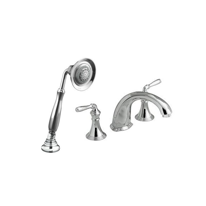The Kohler K-DEVONSHIRE-ROMAN-TUB-PACK includes all parts needed for ...