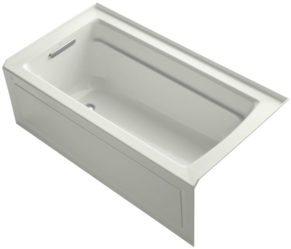 bath tub with armrests lumbar support and left drain faucetdirect