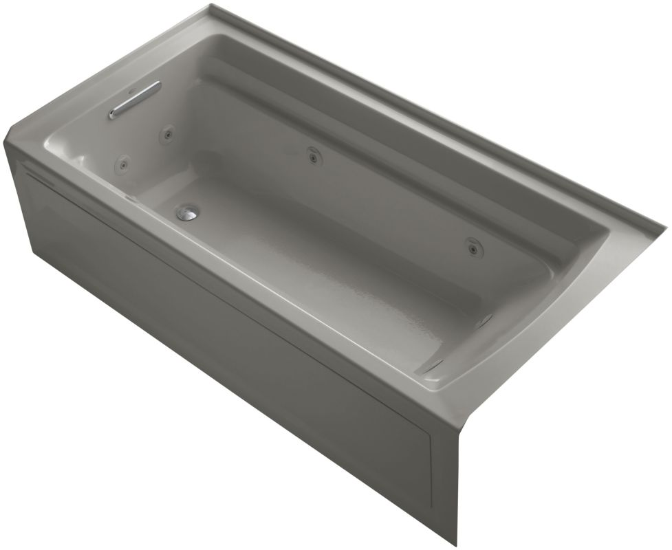Kohler K 1124 La K4 Cashmere Archer Collection 72 Three Wall Alcove Jetted Whirlpool Bath Tub