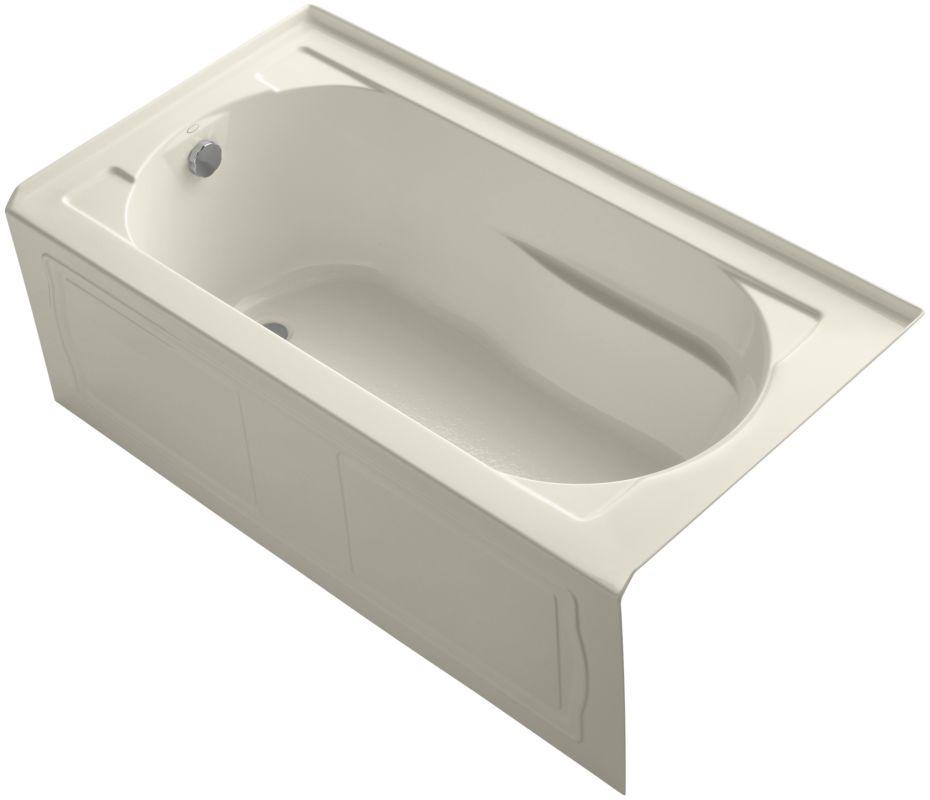 Kohler Tubs : The Kohler K-1184-LA tub comes with a tile flange.