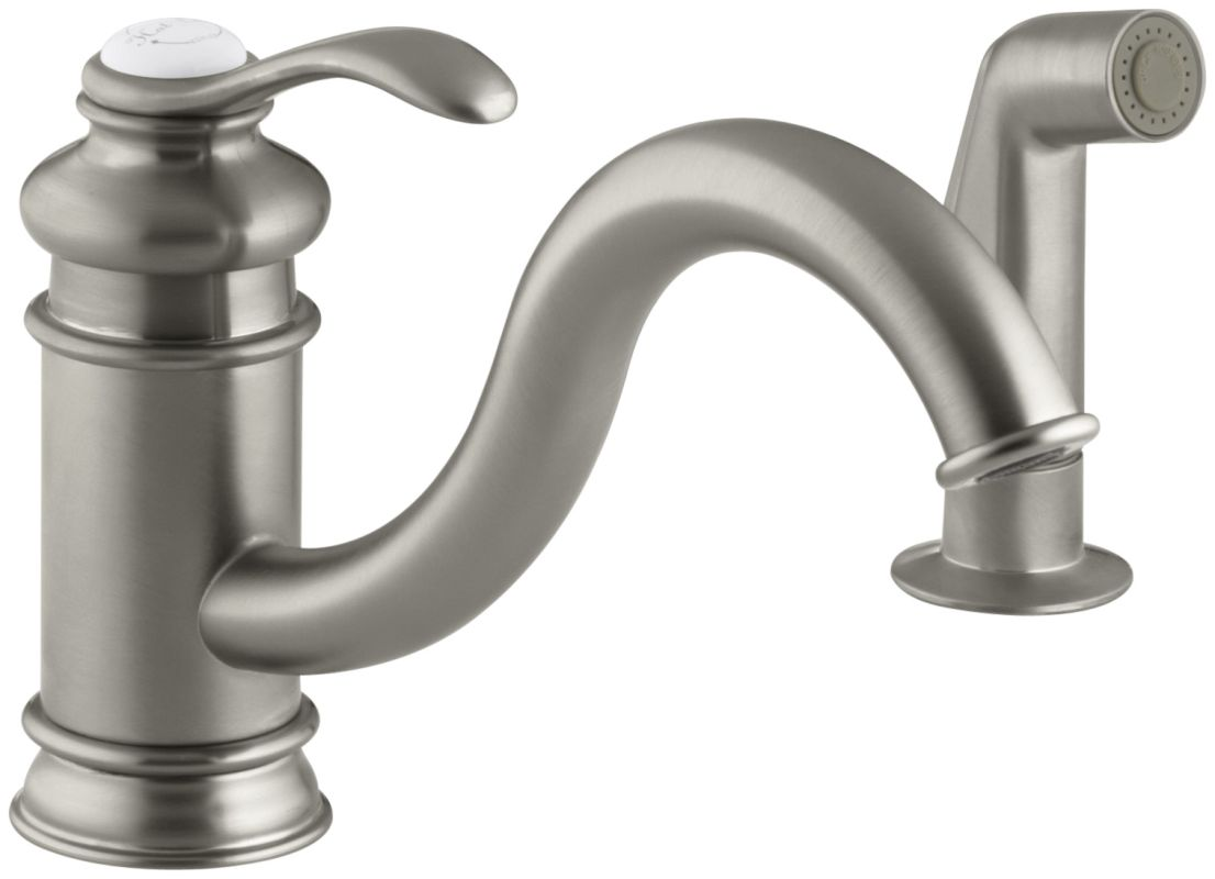 Kohler Fairfax Kitchen Faucet Kohler K 12176 Bn Brushed Nickel Single Handle Kitchen