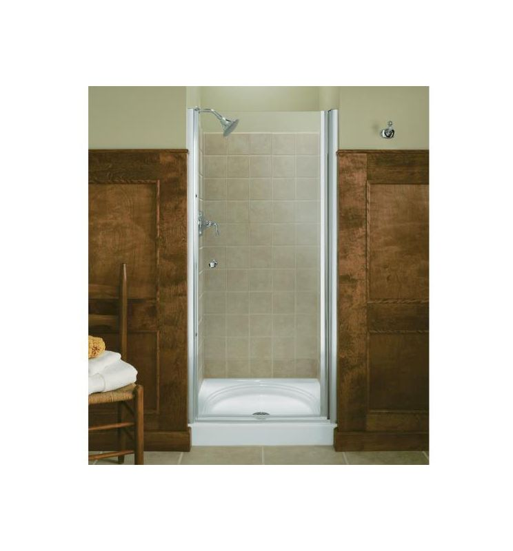 Kohler K 702414 L Abv Anodized Brushed Brass Frameless Pivot Shower Door 37 5 39 W X 65 5 H