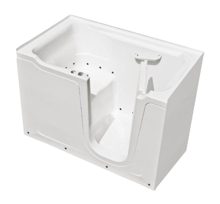 MediTub 3660RWAC White 60 X 36 Walk In Air Therapy Tub With 17 Qu