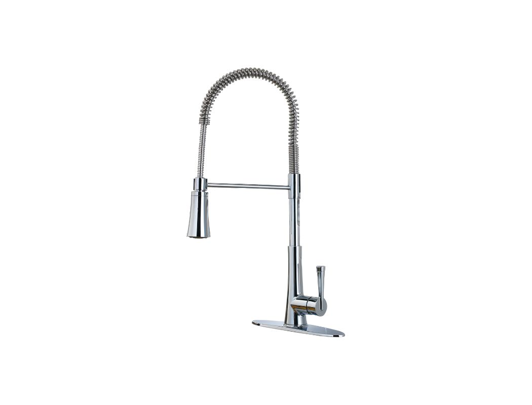 Pfister Gt529mcc Polished Chrome Zuri 3 Function Pre Rinse Spray High Arc Kitchen Faucet With