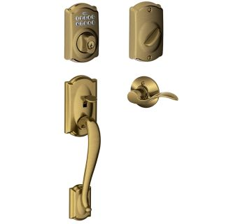 Schlage Fe365cam609acclh Antique Brass Left Handed Camelot