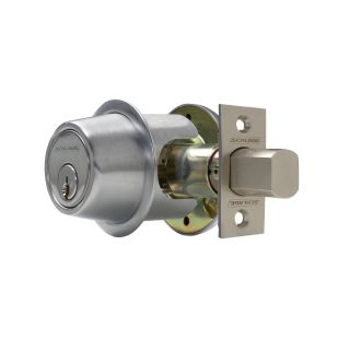 Schlage B561626 Satin Chrome One Sided Deadbolt