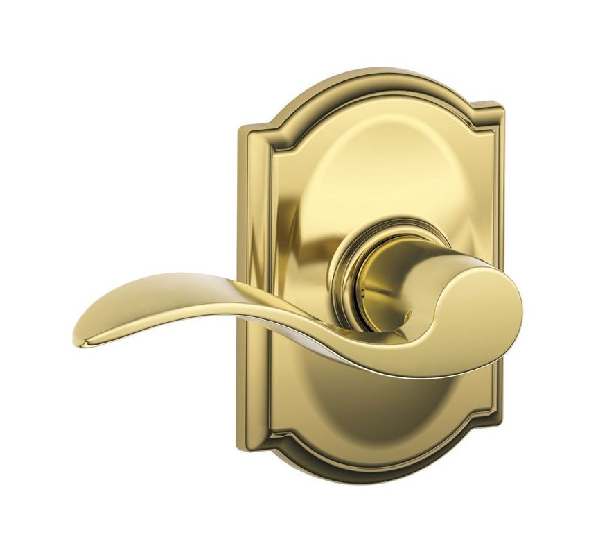 Schlage F10acc505cam Lifetime Polished Brass Passage