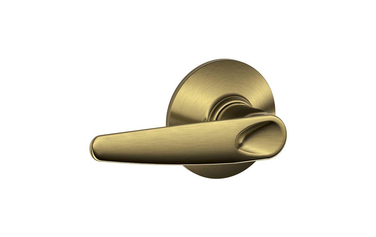 Schlage F10jaz609 Antique Brass Jazz Passage Door Lever
