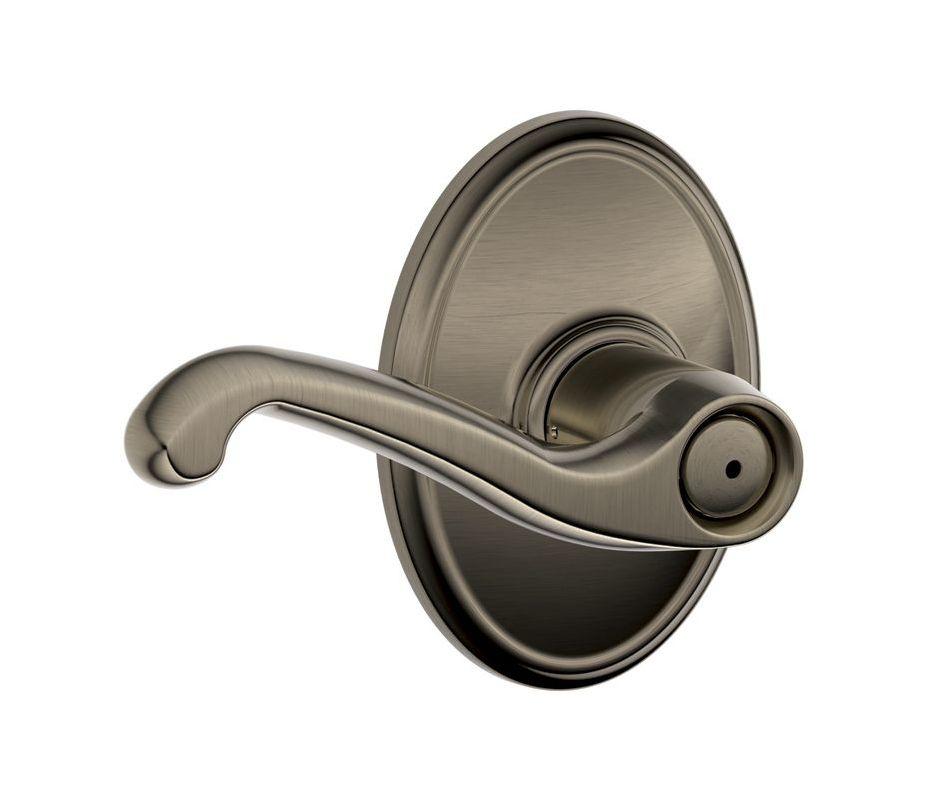 Schlage F40fla620wkf Antique Pewter Flair Privacy Door