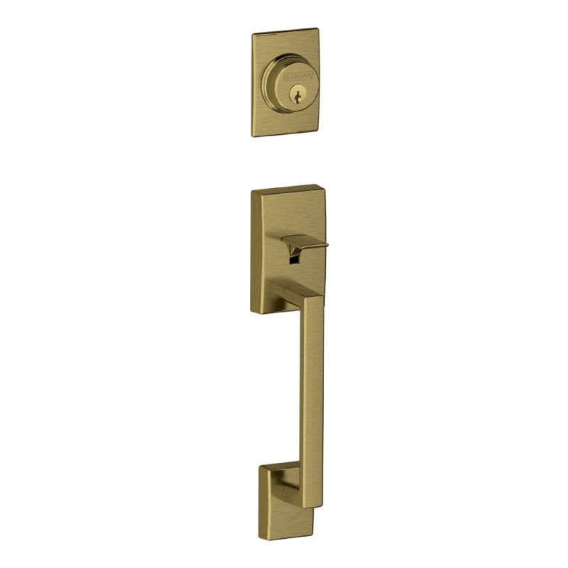 Schlage F58cen609 Antique Brass Century Single Cylinder