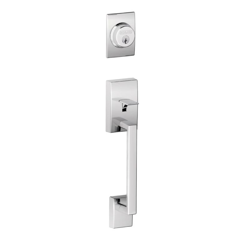 Schlage F58cen625 Polished Chrome Century Single Cylinder