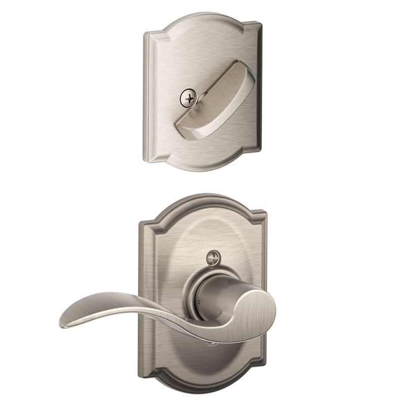 Schlage F59acc619camrh Satin Nickel Accent Right Handed