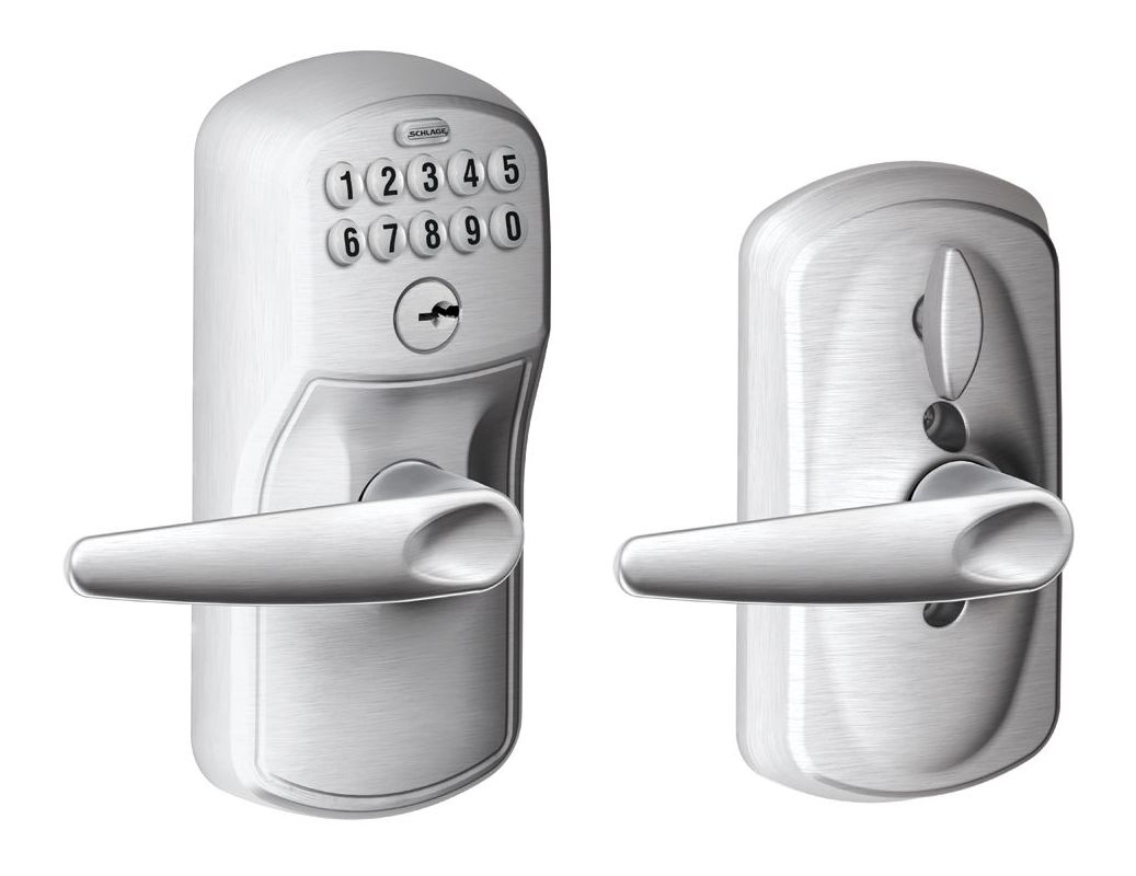 Schlage Fe595ply626jaz Satin Chrome Plymouth Keypad Entry