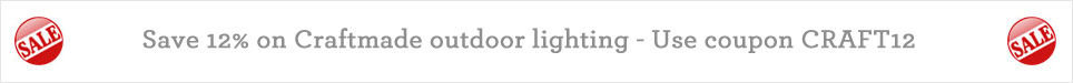 Save 12% on Craftmade outdoor lighting - Use coupon CRAFT12 at checkout
