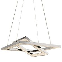 Elan Crushed Ice Chandelier - Warm White