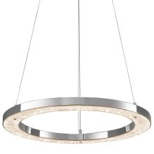 Elan Crushed Ice Round Pendant - Warm White