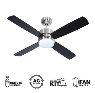 Craftmade Mn44ss4 Chrome 44 Quot 4 Blade Indoor Ceiling Fan Blades Remote And Light Kit Included