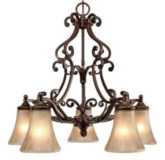 Golden Lighting 4002 D5 Rsb Russet Bronze Loretto 5 Light Nook