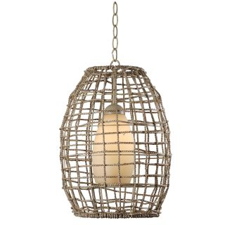 Kenroy Home 93316tn Tan Rope Seagrass 1 Light Full Sized
