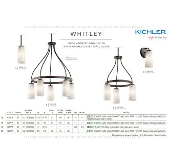 Kichler Whitley Collection
