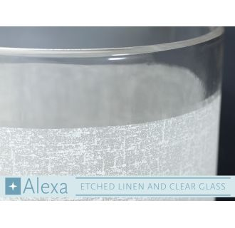 Progress Lighting Alexa Etched Linen and Clear Glass