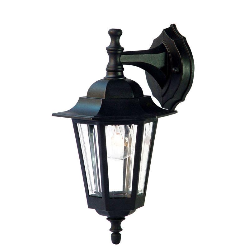 Acclaim lighting 32bk matte black tidewater 1 light for Height of sconces