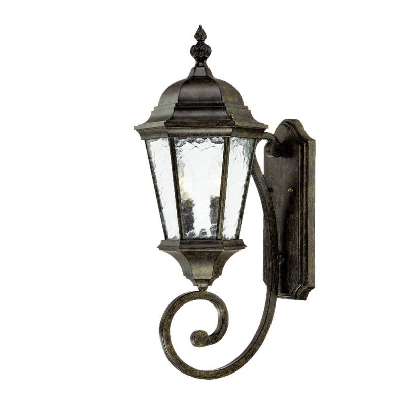 Acclaim lighting 5511bc black coral telfair 2 light 24 5 for Height of sconces