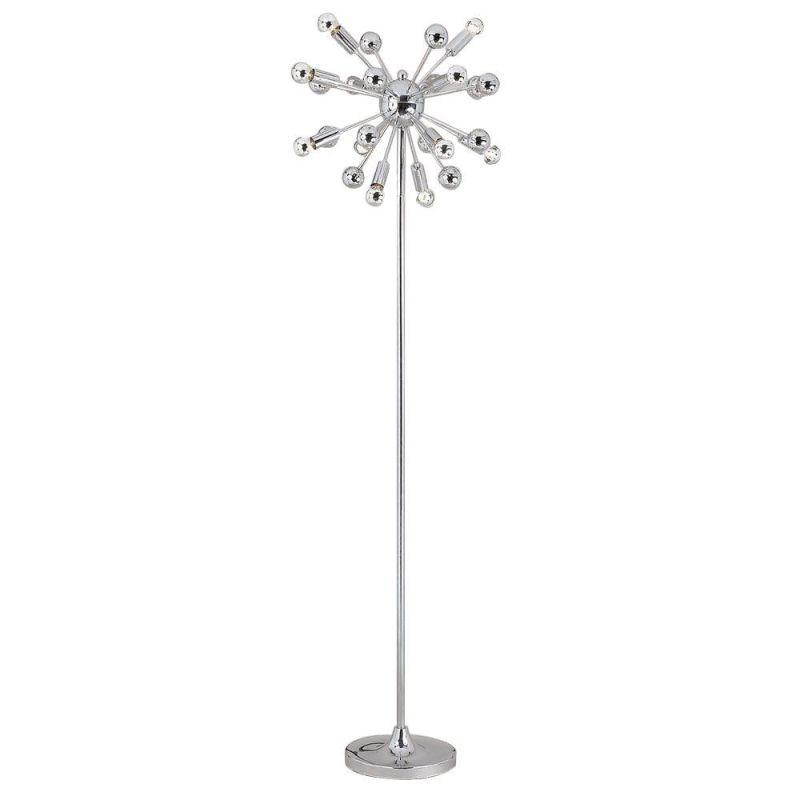 Af lighting 5691 fl polished chrome elements series for Five light floor lamp in silver