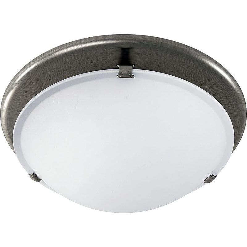 Round Bathroom Fan Light Combination: Broan 761BN Brushed Nickel 80 CFM 2.5 Sone Ceiling Mounted