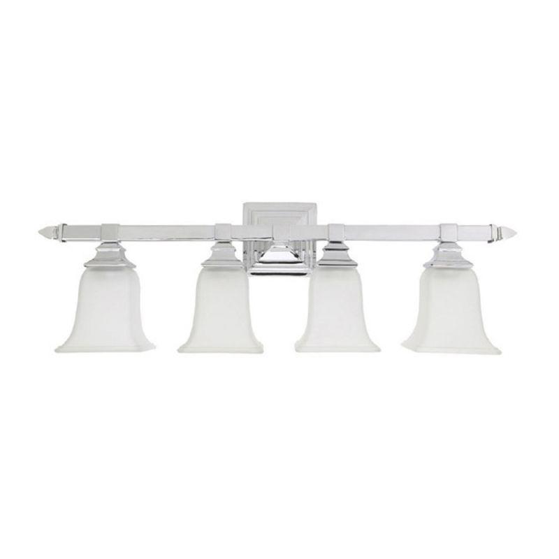 Bathroom Vanity Lights Facing Up : Capital Lighting 1064CH-142 Chrome Capital Vanities 4 Light Bathroom Vanity Light ...