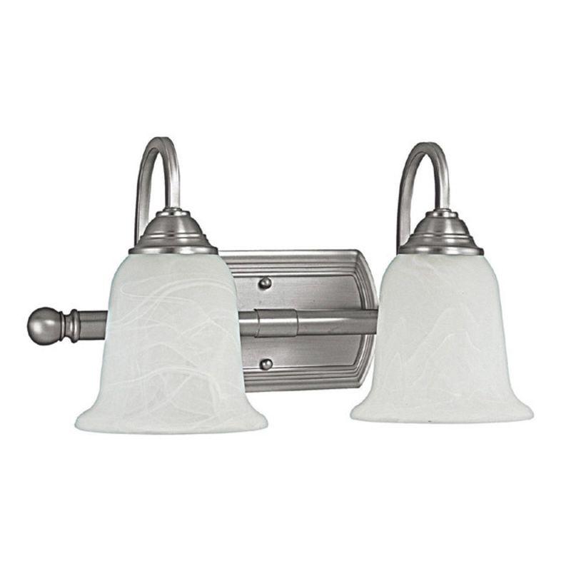 Capital Lighting 1792mn 223 Matte Nickel Metro 2 Light Bathroom Vanity Fixture