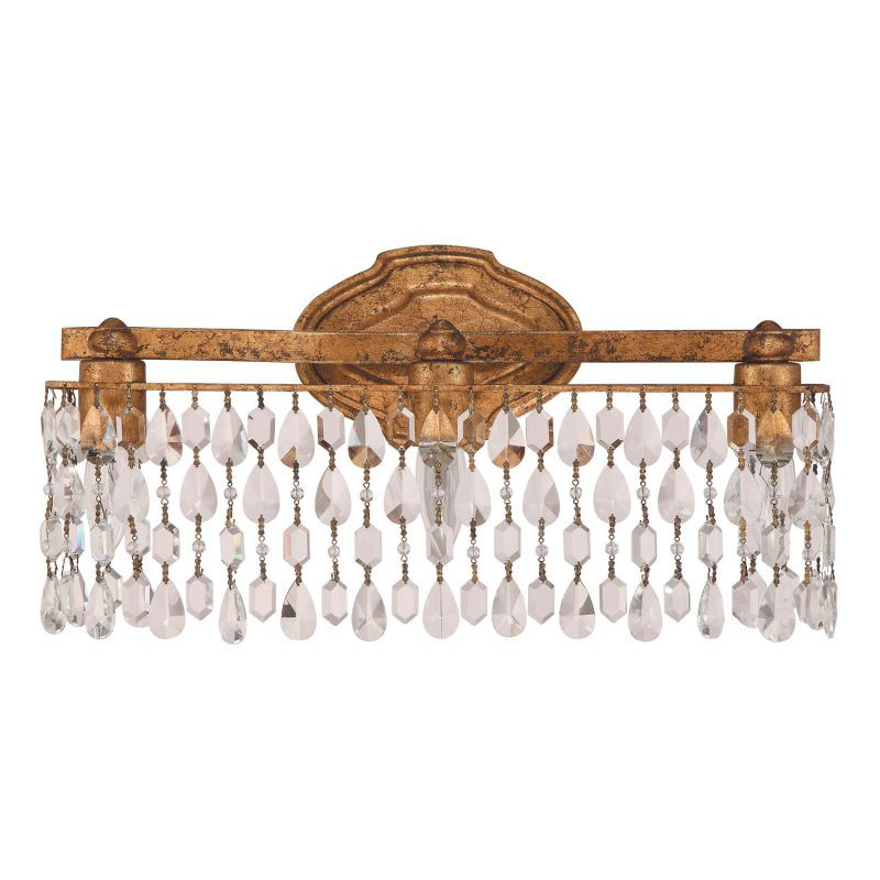Capital Lighting 8528AG CR Antique Gold Blakely 3 Light 19 Wide Bathroo