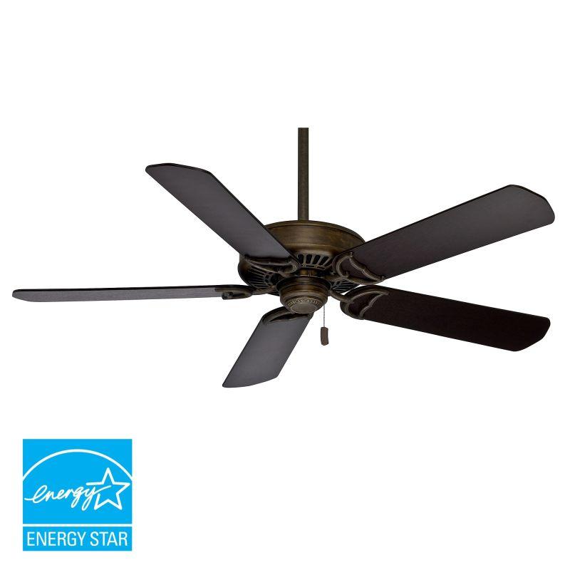 "High Quality Casablanca Ceiling Fan Remote 4 Casablanca: Casablanca 55023 Aged Bronze Panama 52-58"" 5 Blade Energy"
