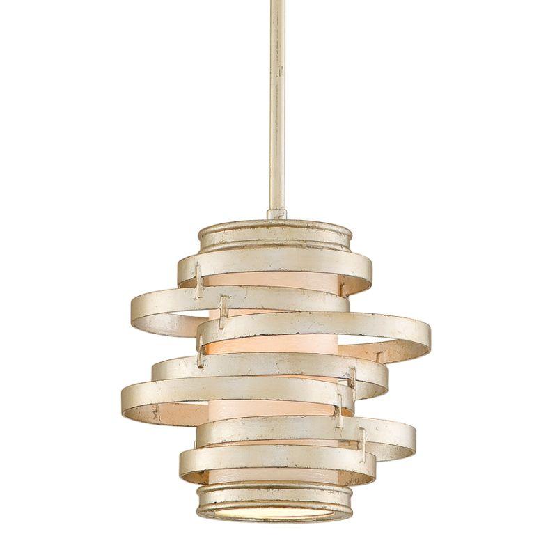 Corbett lighting 128 41 modern silver vertigo 1 light modern pendant with hand crafted iron - Vertigo verlichting ...