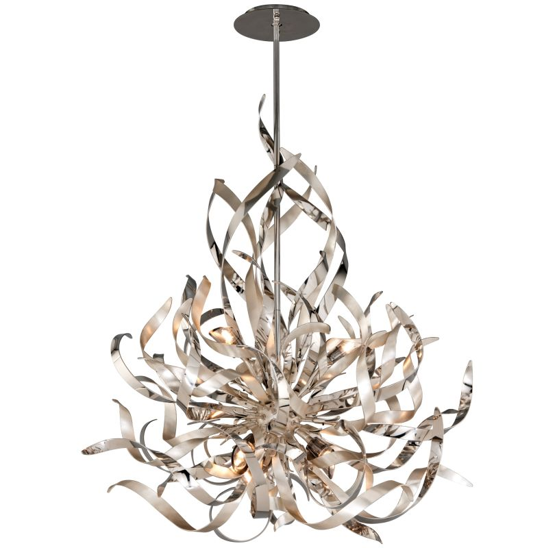 Corbett Lighting 154-46 Silver Leaf And Polished Stainless