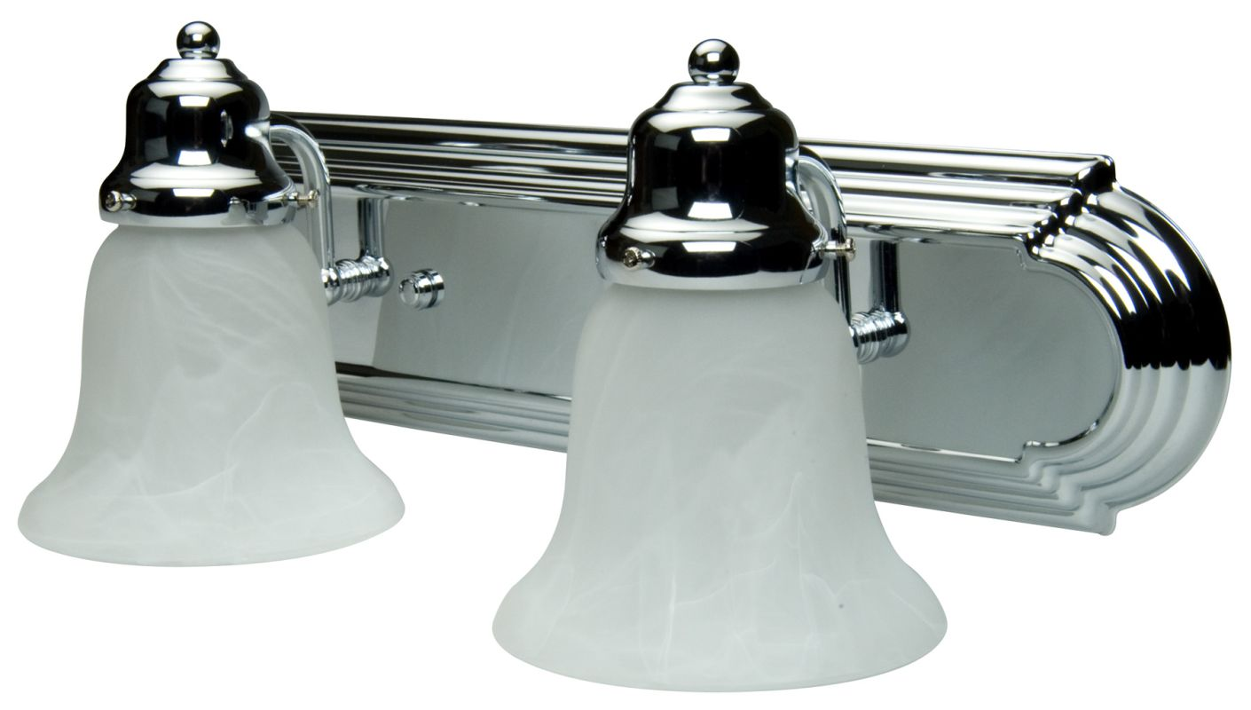 Vanity Lights Kit : Craftmade 11718-KIT-CH2 Chrome Racetrack 2 Light Bathroom Vanity Light - 18 Inches Wide ...