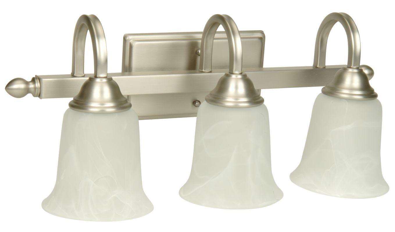 Shop Sea Gull Lighting 3 Light Melody Brushed Nickel: Craftmade 15220AG3 Aged Bronze Madison 3 Light Bathroom
