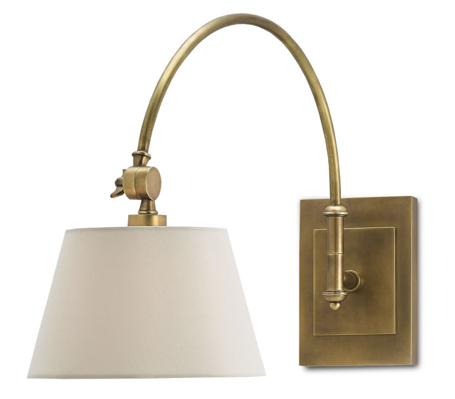 Currey And Company Warranty: Currey And Company 5000-0003 Antique Brass Ashby Single