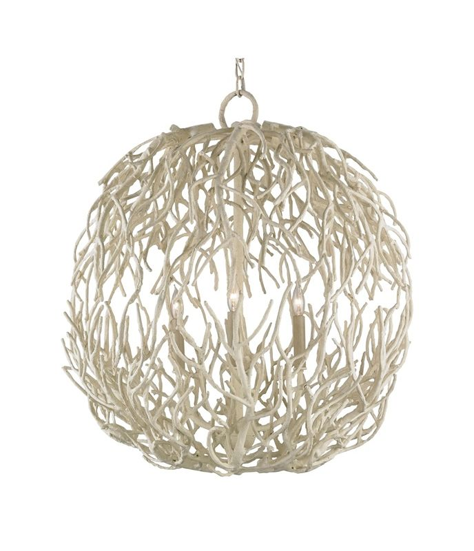 Currey And Company Warranty: Currey And Company 9501 White Coral Eventide 3 Light 29