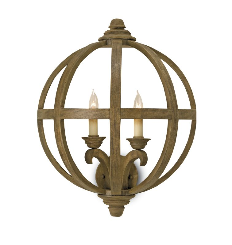 Currey And Company Warranty: Currey And Company 5095 Chestnut Axel 2 Light Wall Sconce