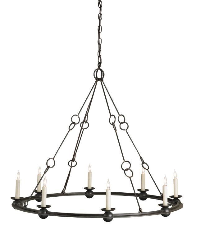 Currey And Company Warranty: Currey And Company 9366 Old Iron Rooney 8 Light Chandelier