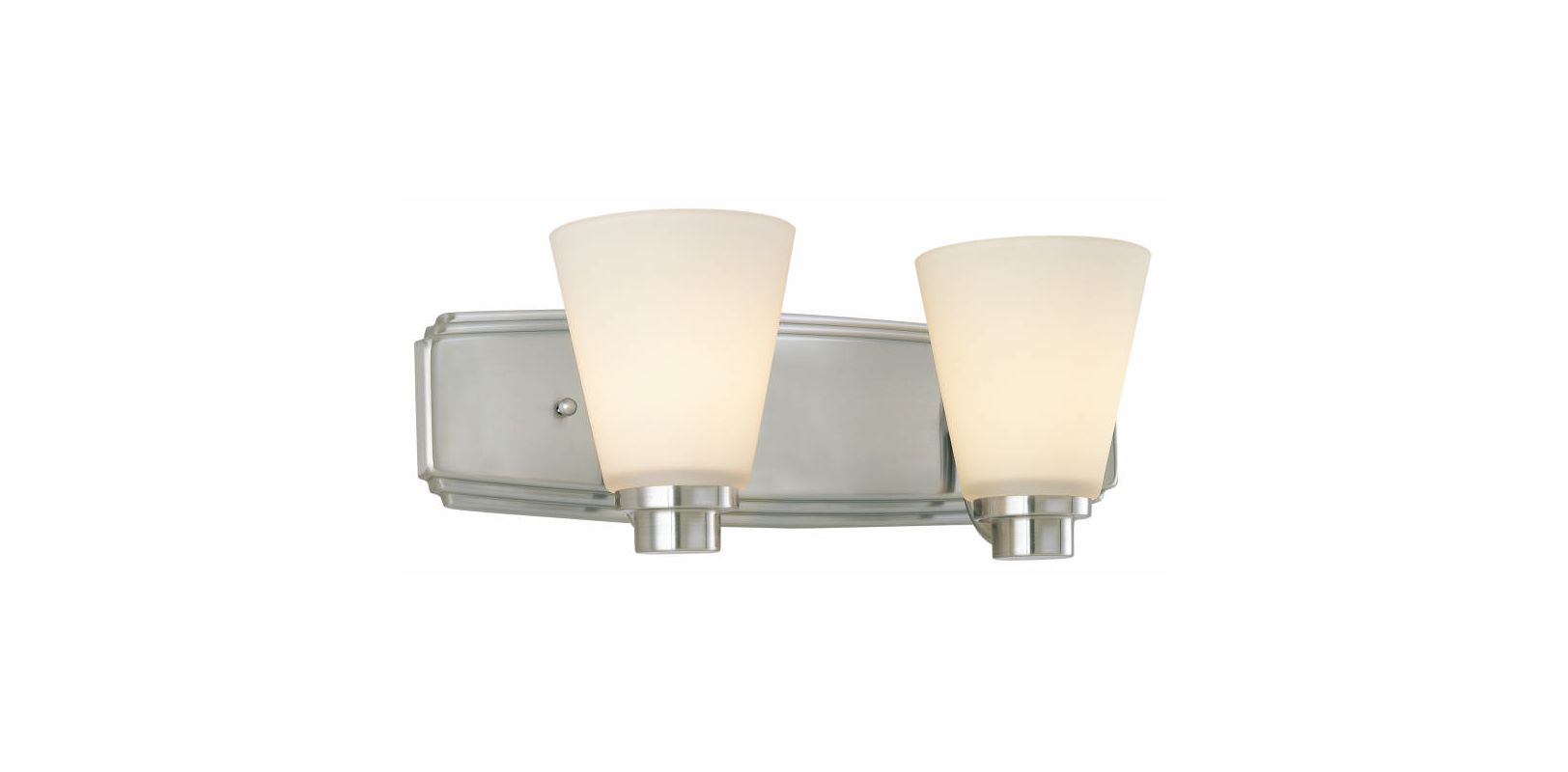 Dolan designs 3402 09 satin nickel 2 light bath from the for H j bathrooms southport