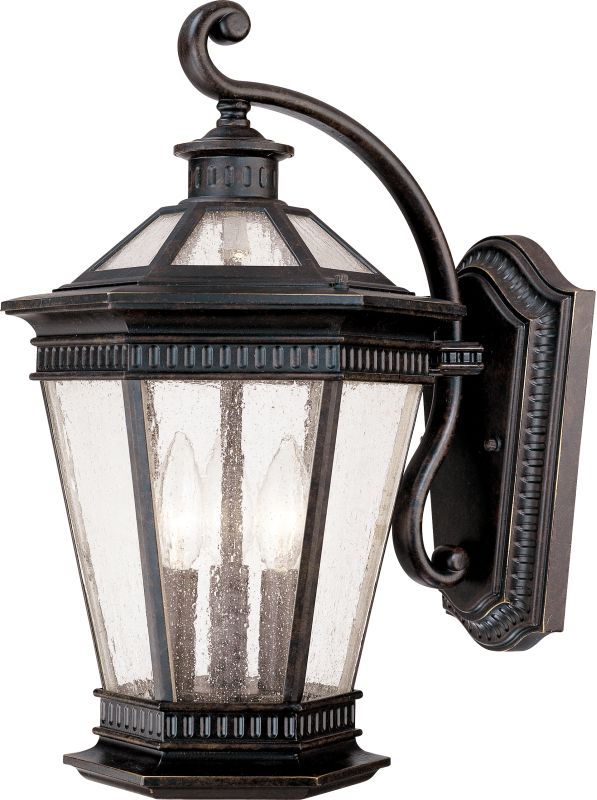 Dolan Designs 9195 68 Winchester 3 Light Outdoor Wall Sconce With Seedy Glass
