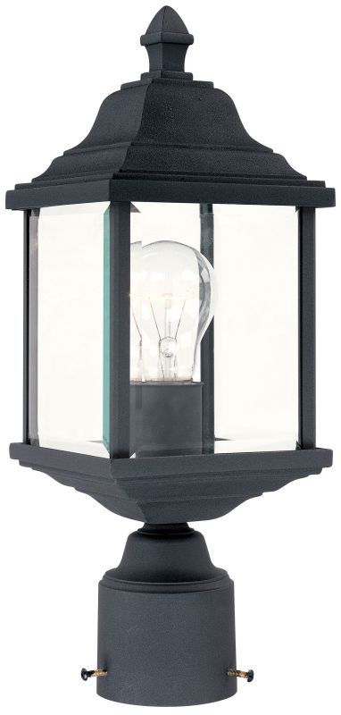 Dolan Designs 932 50 Black Charleston 1 Light Post Light