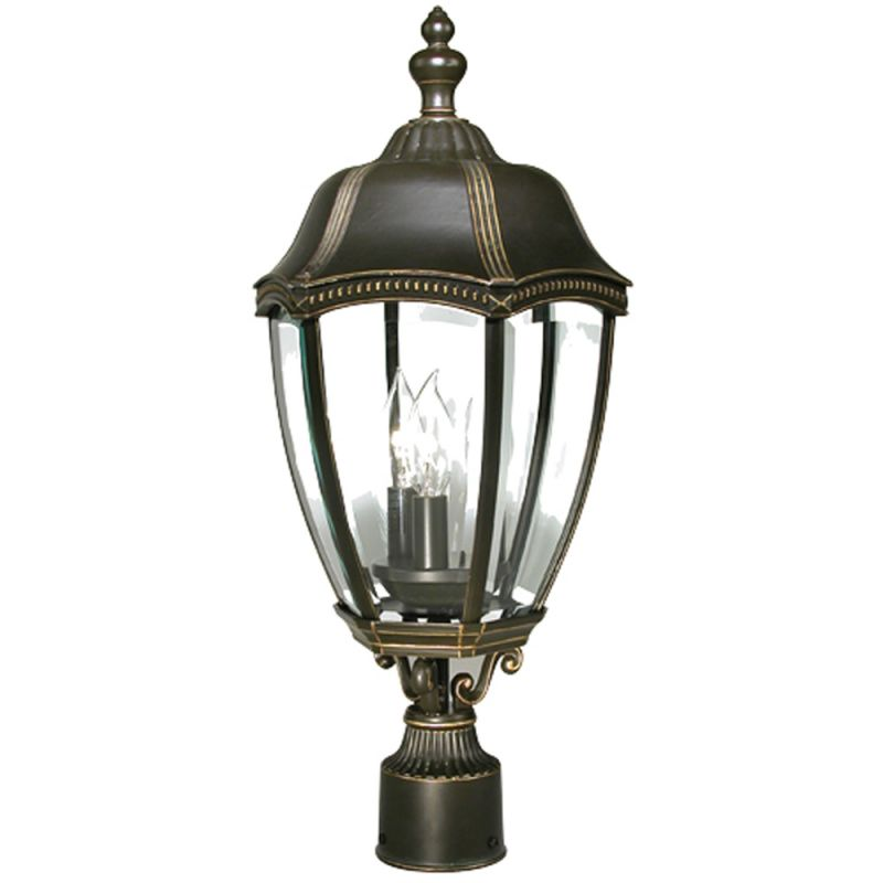Dolan Designs 955 20 Antique Bronze 3 Light Post Light From The Roseville Col