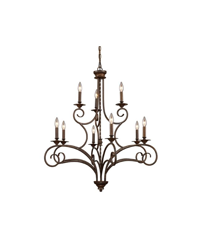Elk Lighting Online: Elk Lighting 15043/6+3 Antique Bronze Nine Light
